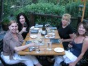 At the River Cafe with Irvina Lew, Karen Berliner and Kristin from Tourism Calgary